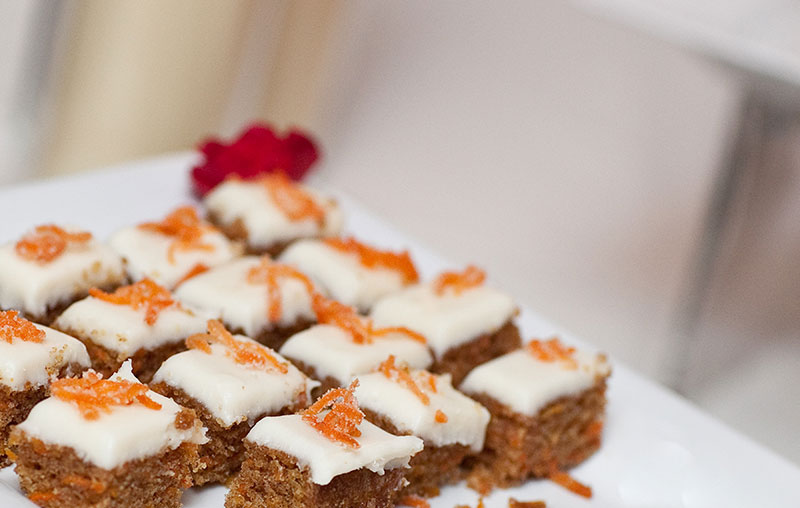 Carrot Cake Bites With Candied Ribbons FALL